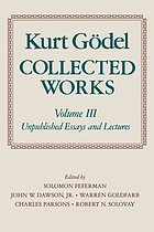 Collected works. / Volume III, Unpublished essays and lectures