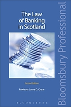 The law of banking in Scotland