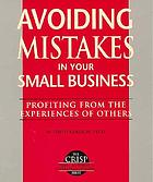 Avoiding mistakes in your small business
