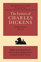 The letters of Charles Dickens. Vol. 12, 1868-1870