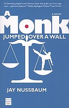 A monk jumped over a wall