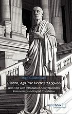 Cicero, Against Verres, 2.1.53–86: Latin Text with Introduction, Study Questions, Commentary and English Translation