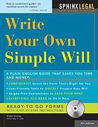 Make your own simple will (+ CD-ROM)