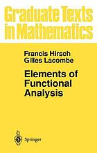 Elements of functional analysis.