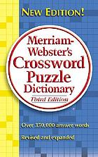 Merriam-Webster's crossword puzzle dictionary.