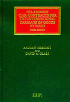 CMR, contracts for the international carriage of goods by road