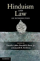 Hinduism and Law : an Introduction.