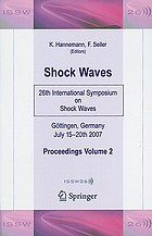 Shock waves : 26th International Symposium on Shock Waves. Volume 2