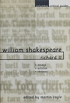 William Shakespeare : Richard II