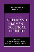 Cambridge History of Greek and Roman Political Thought cover image