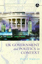 UK government and politics in context