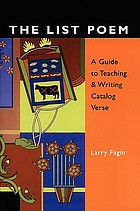 The list poem : a guide to teaching & writing catalog verse