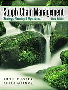 Supply chain management : strategy, planning, and operation