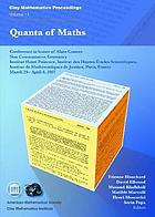 Quanta of maths : conference in honor of Alain Connes, non commutative geometry, Institut Henri Poincaré, Institut des hautes études scientifiques, Institut de mathématiques de Jussieu, Paris, France, March 29-April 6, 2007