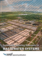 Sustainability reporting statements for wastewater systems.