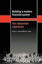 Building a modern financial system : the Indonesian experience