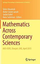 Mathematics across contemporary sciences : AUS-ICMS, Sharjah, UAE, April 2015
