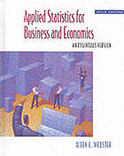 Applied statistics for business and economics : an essentials version