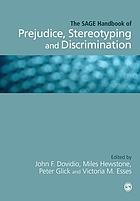 The SAGE Handbook of Prejudice, Stereotyping and Discrimination.