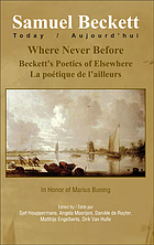 Where never before : Beckett's poetics of elsewhere = la poétique de l'ailleurs : in honor of Marius Buning