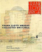 Frank Lloyd Wright collected writings