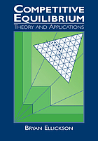 Competitive equilibrium : theory and applications