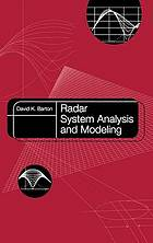 Radar system analysis and modeling