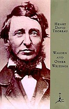 Walden and other writings of Henry David Thoreau