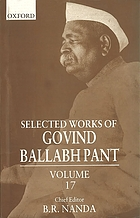 Selected works of Govind Ballabh Pant