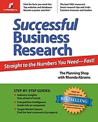 Successful business research : straight to the numbers you need-- fast!
