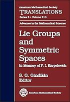 Lie groups and symmetric spaces : in memory of F.I. Karpelevich