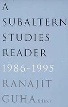 A Subaltern studies reader, 1986-1995