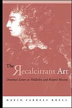 The recalcitrant art : Diotima's letters to Hölderlin and related missives