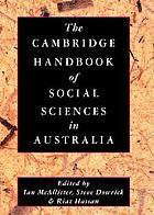 The Cambridge handbook of the social sciences in Australia