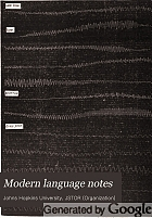 Modern language notes.