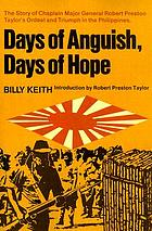 Days of anguist, days of hope.