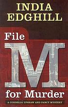 File M for murder : a Cornelia Upshaw and Fancy mystery