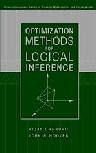 Optimization methods for logical inference