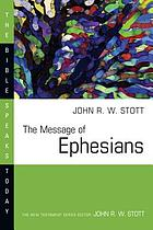 The message of Ephesians : God's new society