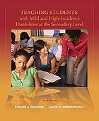 Teaching students with mild and high-incidence disabilities at the secondary level