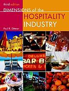 Dimensions of the hospitality industry