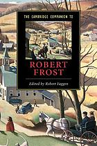 Cambridge companion to Robert Frost.