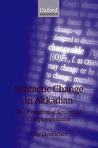 Syntactic change in Akkadian : the evolution of sentential complementation