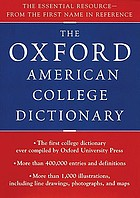 The Oxford American College Dictionary.