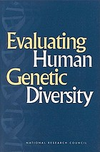 Evaluating human genetic diversity Book Cover
