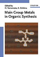 Main group metals in organic synthesis