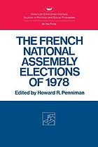 The French National Assembly elections of 1978