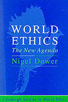 World ethics : the new agenda