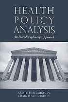 Health Policy Analysis: An Interdisciplinary Approach cover image