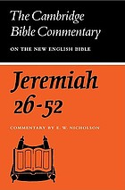 The Book of the prophet Jeremiah. [2] : chapters 26-52